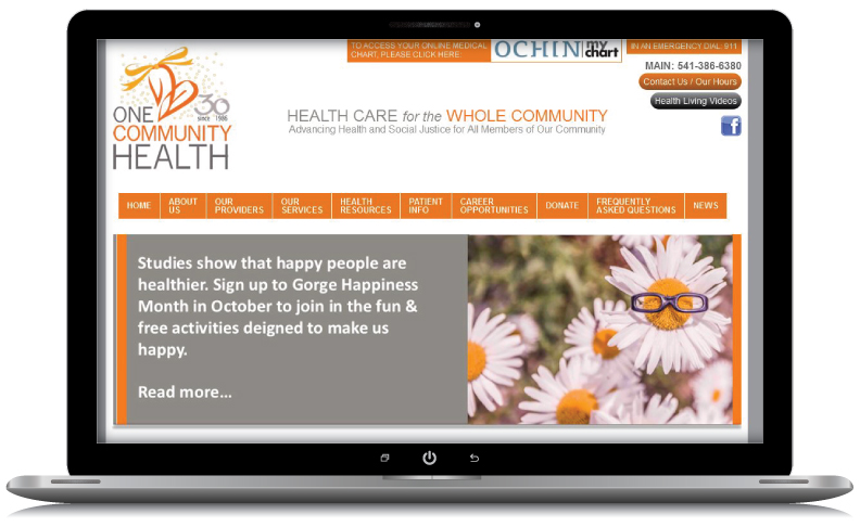 one-community-health-hood-river-oregon-web-design-webrock-design